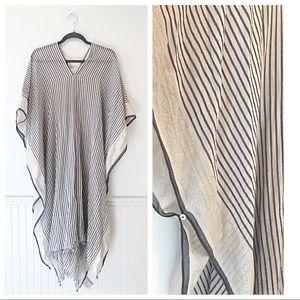 H&M Striped Linen Beach / Swim Cover Up Dress